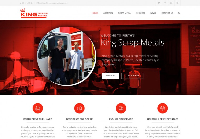 Perth Scrap Metal company website