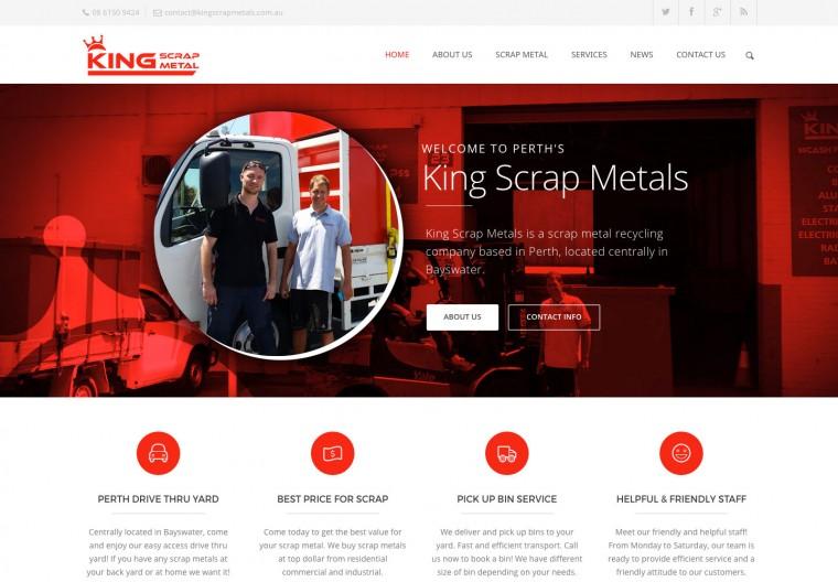 Perth Scrap Metal company website
